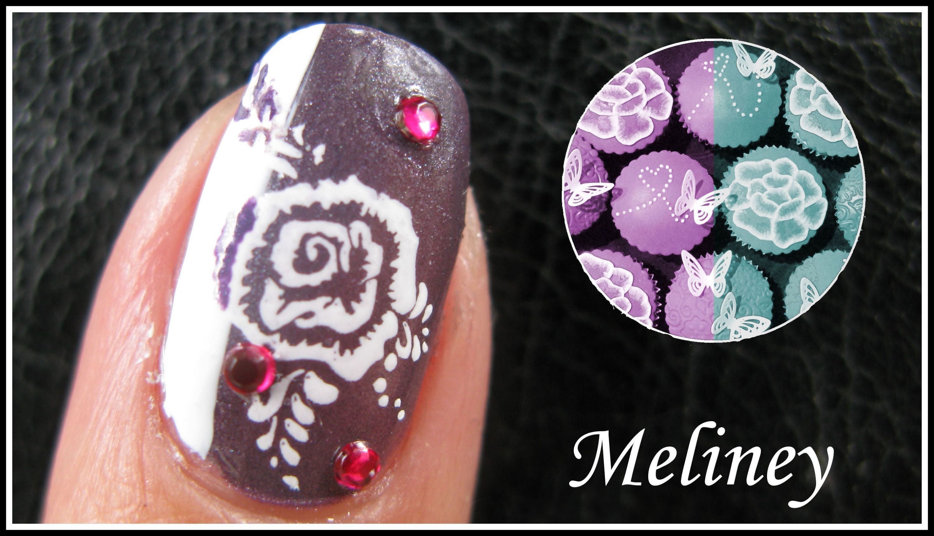 Inverse Flower Nail Designs Romantic Valentines Day Konad Stamping