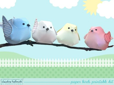 Make whimsical paper bird ornaments for weddings baby showers and more