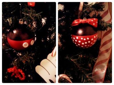Mickey and minnie ornaments tutorial