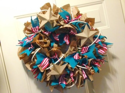Paper Bag Wreath {Geo Deco Mesh Style}