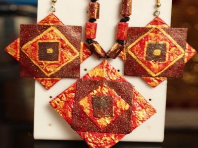 Paper Jewelry  Pendant & Earrings