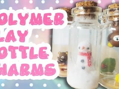 Polymer Clay Bottle Charms