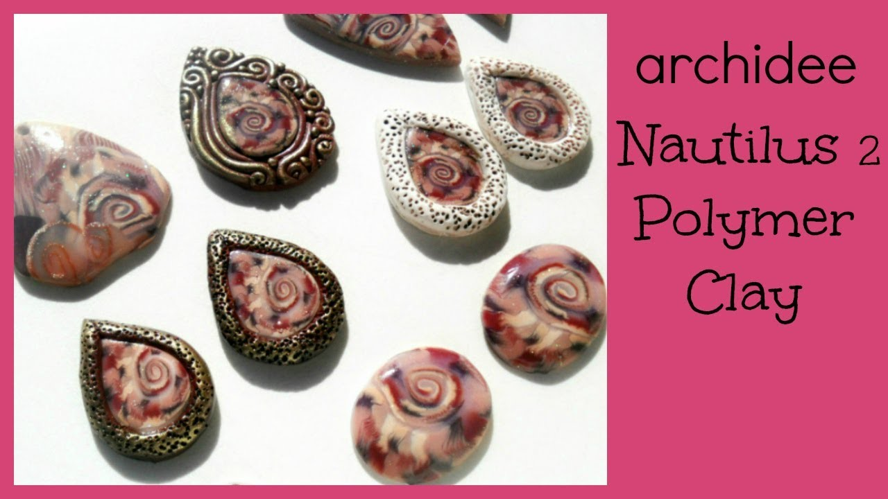 Polymer Clay Tutorial | Ammonite Cabochon | Nautilus Pendants | Incastonare col Fimo | ITALIANO