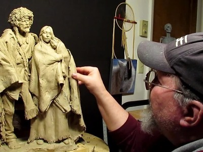 Sculpting with Lemon - Working on the Blanket and Dress of the Woman