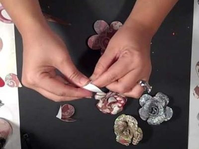 Tim Holtz Paper Roses with your Cricut