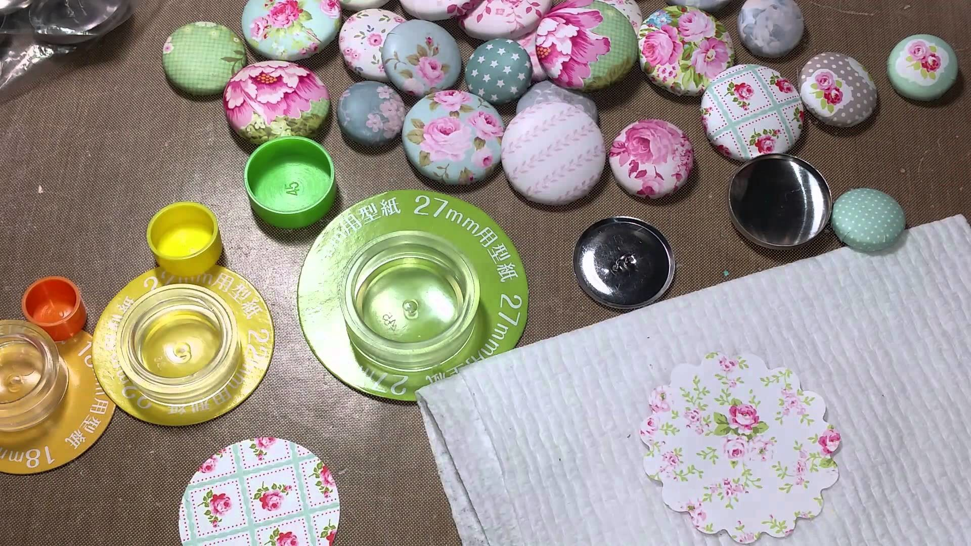 TUTORIAL - Button maker using paper