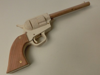 Tutorial! Single Action Revolver Rubberband Gun