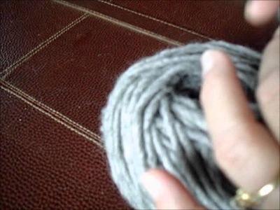 Winding center pull balls by hand.wmv