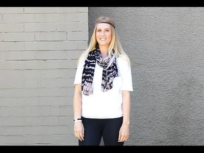 12 Ways to Wear a Scarf or Shawl   #1 The Scarf