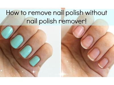 3 Ways To Remove Nail Polish WITHOUT Nail Polish Remover | Viki NailBeauty