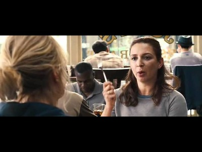 Bridesmaids - conversation in the cafe