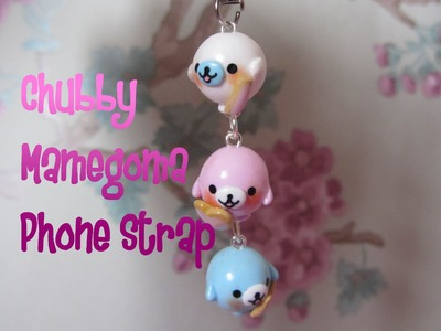 Chubby Mamegoma Phone Strap Tutorial : I ♥ U Cookies! Polymer Clay How-to :)