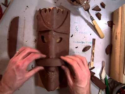 Creating an African Style Mask with Clay (Part 2.7).MOV