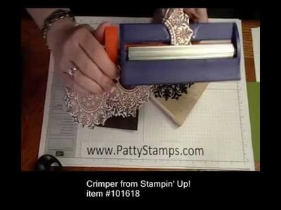 Creating Paper Lace with the Stampin' Up! Medallion stamp