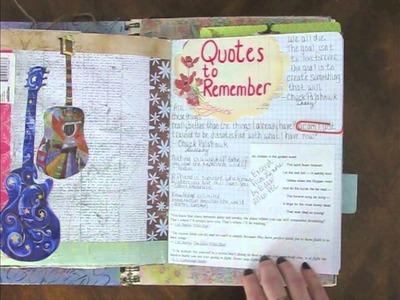 Daybook & Art Journal Flip-Thru