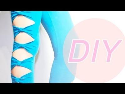 DIY: BOW LEGGINGS