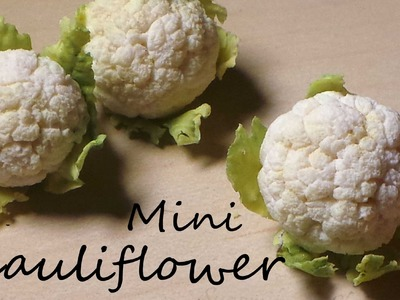 EASY Miniature Cauliflower - Polymer Clay Tutorial