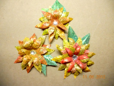 Hand cut paper flowers