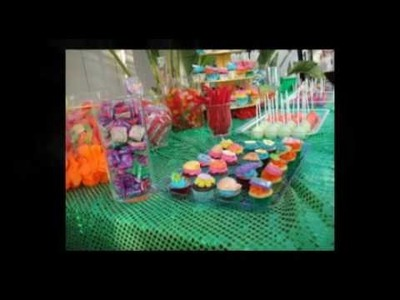 Hawaiian Birthday  Lua Dessert Bar & Candy Buffet Bar- OC Housewife Turns 30!