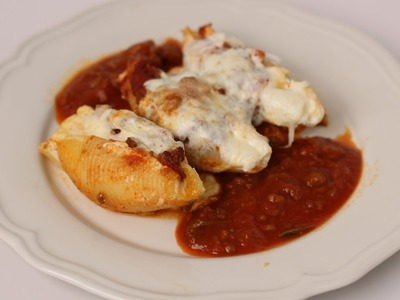 Homemade Stuffed Shells Recipe - Laura Vitale - Laura in the Kitchen Episode 450