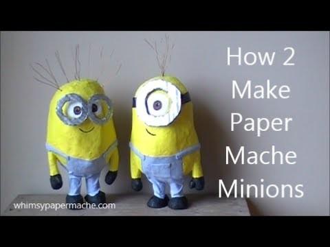 How 2 Make Cute Paper Mache Minions