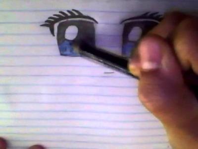 How to draw Beginner Anime eyes for Girls