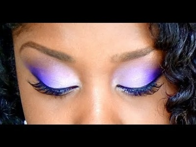 How To Easily Blend Eyeshadow Colors ( Purple Makeup Tutorial ) Drugstore Products used!