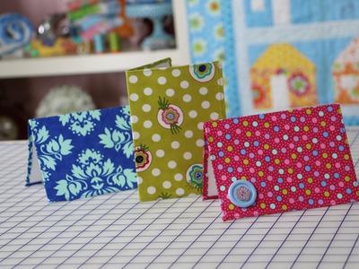 "How to Make a 5"" x 7"" Greeting Card using Fabric - Fat Quarter Shop"