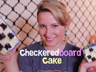 How to make a Checkered Board Cake, 80's theme CakesMade Challenge