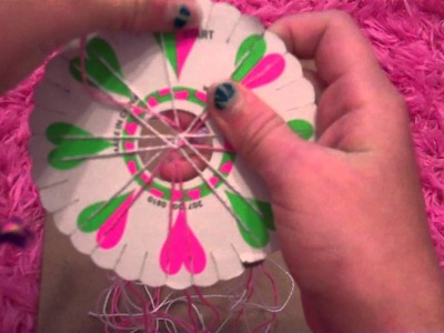 How to make a friendship bracelet using a friendship wheel