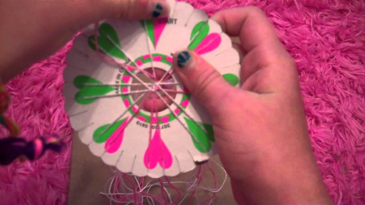 How to make a friendship bracelet using a friendship wheel