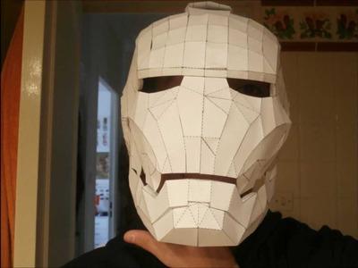 How to make a replica of the Iron Man helmet paper? [TUTORIAL]