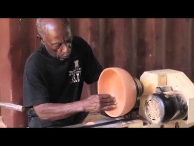 How To Make A Wooden Bowl In Jamaica  [FROM TREE TO BOWL]