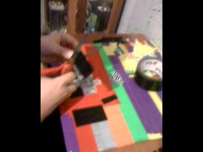 How to make duct tape headphone holder