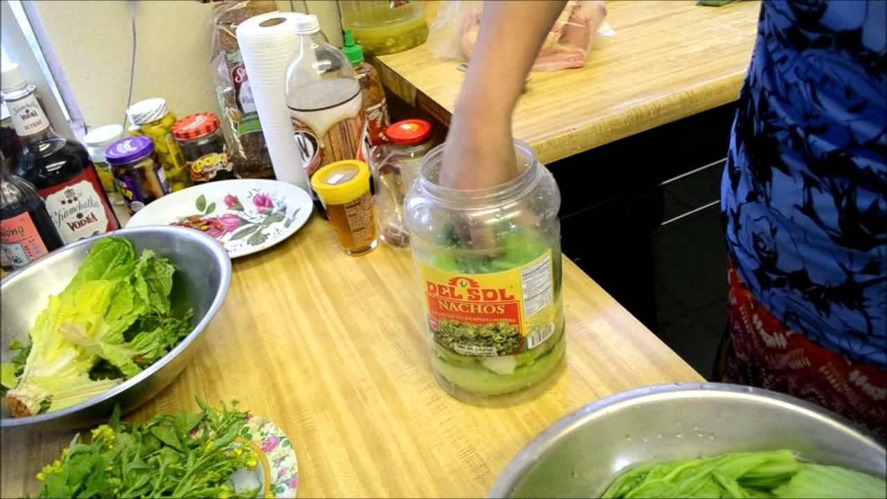 How to make Pickled Green Mustard (Jruk Spey)