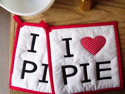 """How to Make Quilted Potholders -- I """"Heart"""" Pie Potholders"""