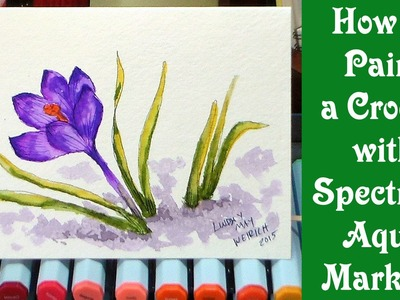 How to paint a crocus with spectrum aqua markers