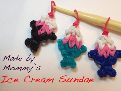 Ice Cream Sundae Charm on the Rainbow Loom