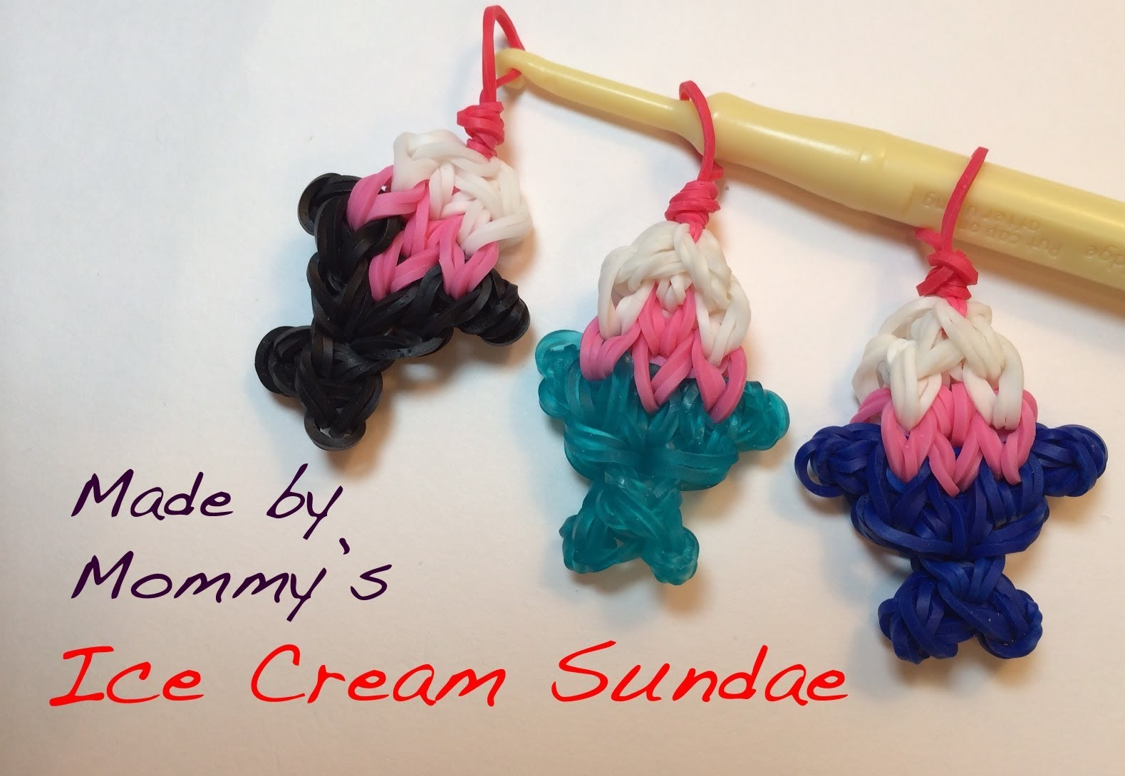 Ice Cream Sundae Charm on the Rainbow Loom