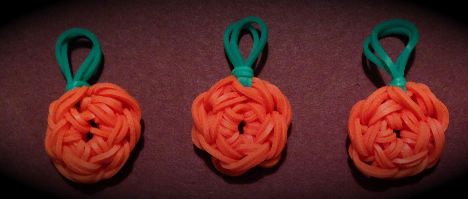 Made By Mommy's Pumpkin Charm on the Rainbow Loom