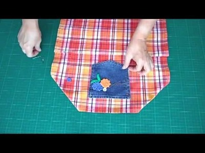 Make a Dish Towel into a Kid's Apron - OWIMO Design Upcycling