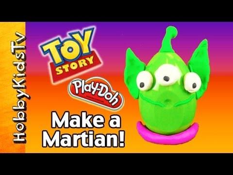 Make a Toy Story Martian! Sculpt Play-Doh Disney Surprise Egg by HobbyMom HobbyKidsTV