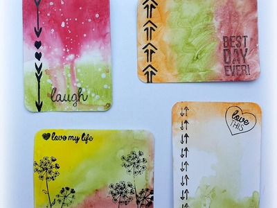 Make you own mixed media journal cards using Gelatos® and Stamper's Big Brush Pens