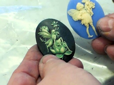 Making Cameo Jewelry:  Use Gilder's Paste, Paints to Add Color to Resin Cameos with B'sue