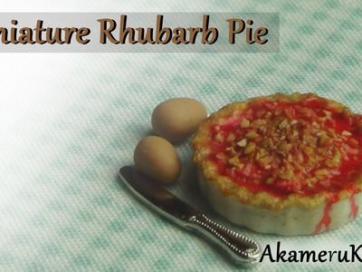 Miniature Rhubarb Pie Tutorial - Polymer clay