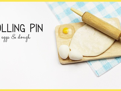 Miniature rolling pin | polymer clay eggs  TUTORIAL