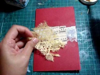 Mixed media card using polymer clay 'mosaic'
