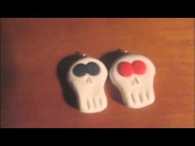 My Polymer Clay Skull Charms