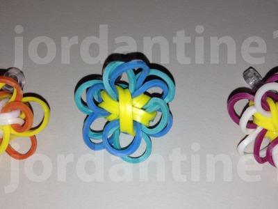 New Rainbow Loom Two Color Flower Fun Charm