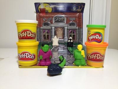 PLAY-DOH HALLOWEEN Pack n Go Monster Rific Haunted House a Tutorial for A Play Doh Haunted House